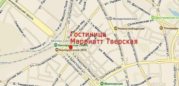 Схема проезда. карта